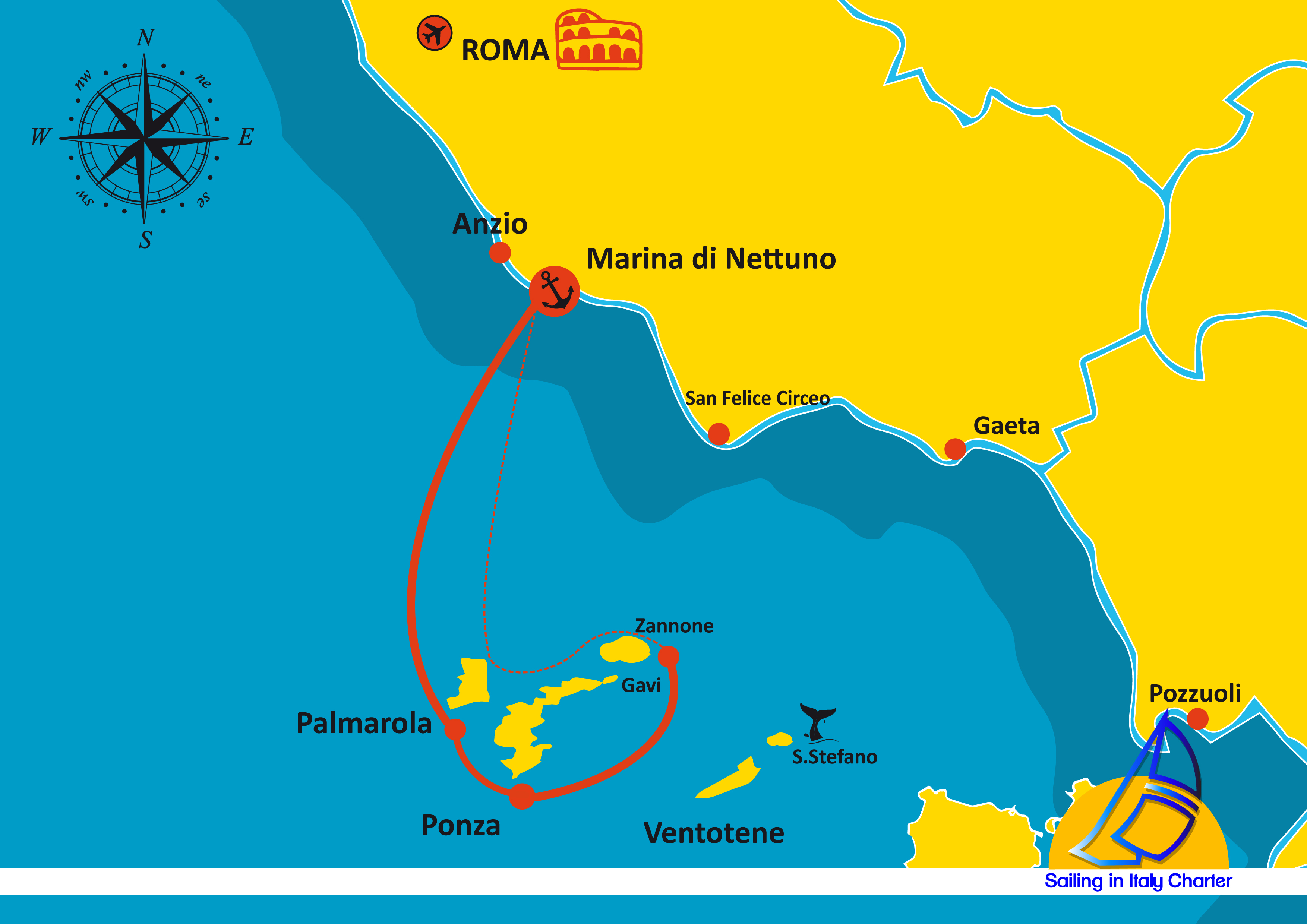 Sailing In Italy Roma Week End Itinerary